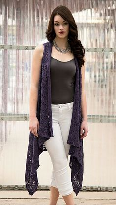 Ravelry: Violet Duster pattern by Marly Bird Crochet Vest Pattern, Crochet Jacket, Crochet Cardigan, Crochet Trim, Knitting Patterns, Knit Crochet, Crochet Patterns, Crochet Vests, Crochet Cape