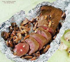 Gombás őzkaraj alufóliában sütve Paleo, Pork, Hunters, Kitchen, Kale Stir Fry, Cooking, Kitchens, Beach Wrap, Cuisine