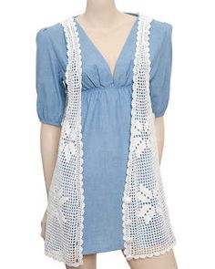 Vests should be a wardrobe staple.works like boleros and cardis but the thing with vests is that it could be playful. You can add long s. Crochet Vest Pattern, Crochet Coat, Filet Crochet, Crochet Clothes, Crochet Lace, Crochet Vests, Womens Sleeveless Tops, Long Vests, Crochet Fashion