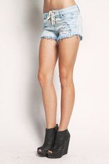 Tied Shorts - Blue $55
