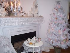 The farm cottage is decorated and ready for Christmas.