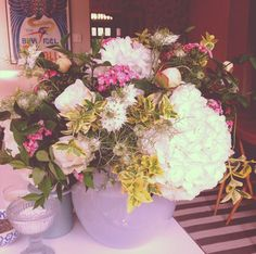 may and june wedding flowers  hydrangea, peonies, sweet william the bloom bar, london