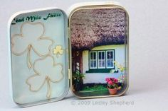 Make A St. Patrick's Day Tin for Keepsakes or as a Leprechaun Trap: Use Free Printables to Make a Decorated  Tin for  St Patrick's Day