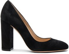 Gianvito Rossi Suede Chunky Heels