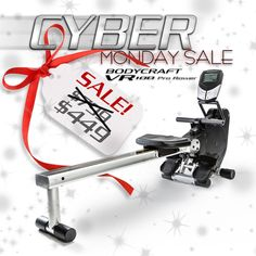 This year Cyber Monday comes one day early! Sunday 11/30 and Monday 12/1 pick up our VR100 Pro Rowing Machine at our LOWEST PRICE EVER! We only have a limited quantity so ACT fast before they're gone! Click the link below to claim yours!  #rowing #Fitness #holiday #cardio #sale  http://bodycraft.com/vr100-pro-rowing-machine.html