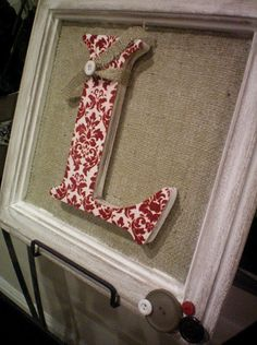 burlap frame with letter