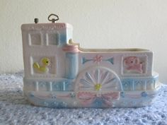 Napco Baby Planter and Music Box/Vintage Riverboat by Folkaltered, $14.00