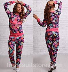 floral adidas tracksuit