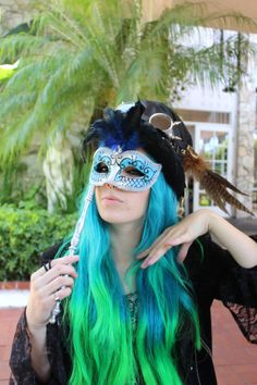 Blue haired steampunk
