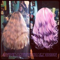 *no filter Before/after ;) #hair #haircolor #hairstylist #stylist #salon #pastelhair #pinkhair #lavender #pink #lilac #btcpics #pravana #joico #brighthair #vividhair #vibrant @joico @pravana @behindthechair_com @modernsalon @hairbrained_official @beautylaunchpad @whocuts @dyeddollies @dollswithdye