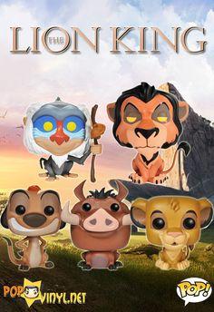 *grabby hands* Gimmmeeeeeeee these Lion King Funko Pop! Funko Pop Figures, Pop Vinyl Figures, Pop Bobble Heads, Pixar, Funko Pop Toys, Pop Figurine, Estilo Disney, Funk Pop, Disney Pop