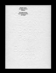 Musées royaux des Beaux-Arts de Belgique — Siegfried Bing & la Belgique — Bulletin 1 2010