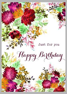 New designs by Victoria Nelson Illustration… Happy Birthday Wishes For A Friend, Happy Birthday Wishes Images, Birthday Girl Quotes, Happy Birthday Flower, Birthday Wishes Messages, Happy Birthday Girls, Birthday Blessings, Happy Birthday Pictures, Just For You