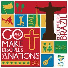 World Youth Day #Rio2013 emblem of #Dubai, #UAE. #Catholic #Christian #WYD #Jesus #Christ