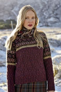 Ravelry: Ness pattern by Marie Wallin ...... love these colours too but.... think I would like this as a cardi so a steek would be required!!