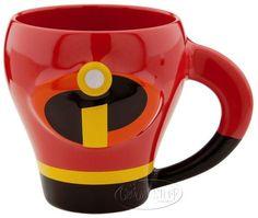 Disney Store Pixar The Incredibles Ceramic Mug Coffee Cup Mr. Incredible Mr NEW
