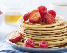 Pancakes sans gluten - K-arome - Easy Gluten Free Desserts, Easy Brunch Recipes, Foods With Gluten, Easy Desserts, Pancakes Sans Gluten, Pancakes Easy, Fluffy Pancakes, Sin Gluten, Crepes
