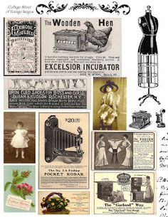 **FREE ViNTaGE DiGiTaL STaMPS**: Free Vintage Printable - Digital Collage Sheet