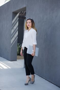 Office outfit women; 9-5 workwear; professional woman's outfit