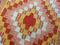 Bright Lap Quilt Bright Tumbler Quilt Tumbler by TheQuiltedKitchen