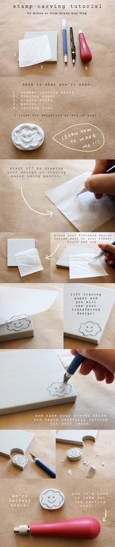 Hand-Carved Stamp Tutorial - Minna May | design + illustration