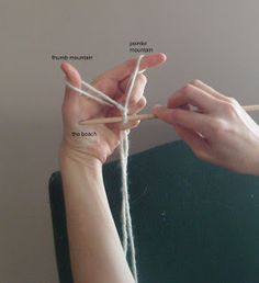 Waldorf Handwork: tutorial and story to teach casting on knitting