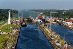 The Panama Canal...while on a cruise...very interesting.