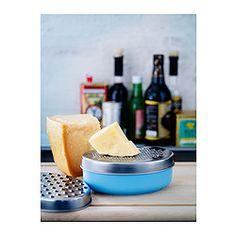 IKEA - CHOSIGT, Reibeisen mit Behälter, Man kann z. B. Käse in den Behälter reiben, den Deckel aufsetzen und dann den Käse im Kühlsschrank verwahren.