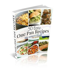 50 Easy One Pan Recipes eCookbook from sixsistersstuff.com. Only $4.99!