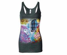 #fashion #art #smallbusiness #custom #original #shop #buy #clothing #womens #tank #watercolor #shop #buynow CultAmethyst.com