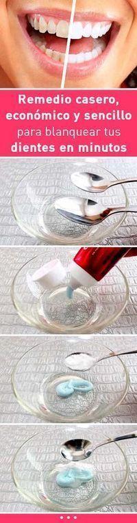 Remedio casero, económico y sencillo para blanquear tus dientes en minutos #blanquear #dientes #remediocasero