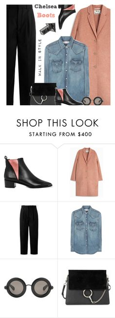 """Untitled #451"" by ino-6283 ❤ liked on Polyvore featuring Acne Studios, Yves Saint Laurent, Christopher Kane and Chloé"