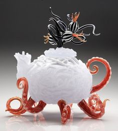 "*Art Glass - ""Under the Tea"" (Teapot) by Jennifer Umphress    Under the Tea"