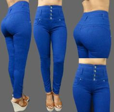 57b45589668 High waist Blue Colombian Jeans. Colombian buttlifting jeans available in  different styles and sizes visit