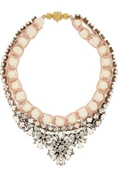 Shourouk                               Theresa Swarovski crystal and faux pearl necklace