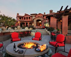 """Larger """"table area"""" around firepit"""
