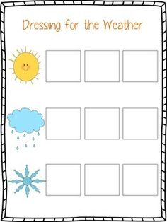 FREE - Weather file folder game