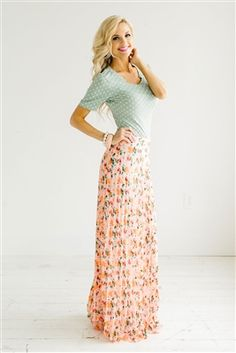 Pink Floral Pleated Maxi Skirt, Vintage Dress, Church Dresses, modest skirt, trendy modest dresses, dresses for church, sequin skirts, cute skirts, pencil skirt, affordable boutique clothes, modest, boutique dresses, modest dresses for church