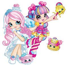 Briddie and rainbow kate Shopkins Cartoon, Shopkins Characters, Fete Shopkins, Shopkins Girls, Shoppies Dolls, Shopkins And Shoppies, Miraculous Ladybug Toys, Disney Princess Babies, Lol Dolls