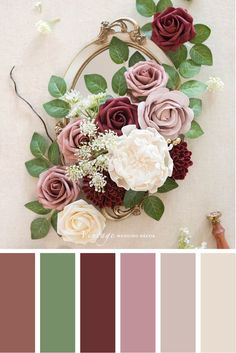 dusty rose wedding Color palettes and color inspiration for wedding. Dusty Rose Wedding Color Ideas for 2020 Color Schemes Colour Palettes, Colour Pallette, Color Palate, Winter Color Palettes, Fall Color Palette, Wedding Color Palettes, Vintage Color Schemes, Fall Color Schemes, Color Combos