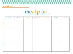 FREE Meal Plan Printable - makes meal planning a little more fun!