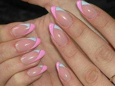 Super Nails Acrylic Designs Tips Colour Ideas Nail Designs 2014, Acrylic Nail Designs, Acrylic Nails, Nagellack Design, Nagellack Trends, Fancy Nails, Trendy Nails, Pink Nails, Almond Nails Designs