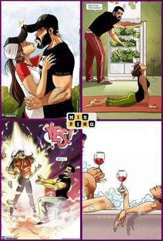 Married Life Jokes You Will Find Funny – Mix Ping and laughing – Bande dessinée Cute Couple Comics, Couples Comics, Cute Couple Art, Couple Cartoon, Funny Couples, Cute Couple Pictures, Funny Pictures, Funny Memes, Comics