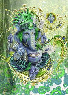"""Ganesha is worshipped as the lord of wisdom and success, beginnings and as the lord of defender and remover of obstacles, patron of arts and sciences. Ganesha is the lord with Elephant head. Ganesha elephant head has only one full tusk ,while other is broken. He said to have broke it to write The Mahabharat to the dictation of sage """"Vyasa""""."""