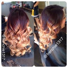 Red ombré @frenchie1317