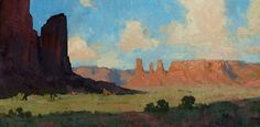 Monument Visions by Bill Cramer Oil ~ 12 x 24