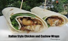 Italian Style Chicken and Cashew Wraps #SummerGoodness #ad