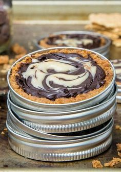 Mason jar lids are like little tart pans, which is where Christina Lane, author of Dessert For Two, got the idea for this chocolate caramel treat. You can play around with the fillings: Substitute jam for caramel, or cookies for graham crackers.  Get the recipe »  - GoodHousekeeping.com