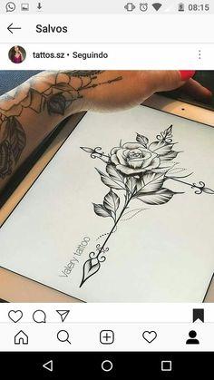 ml/ – # tattoos - diy tattoo project Dream Tattoos, Future Tattoos, Rose Tattoos, Flower Tattoos, Body Art Tattoos, Small Tattoos, Sleeve Tattoos, Faith Tattoos, Sexy Tattoos For Girls