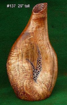rustic-wood-vase-live-edge-maple-vase-rustic-lamp-base